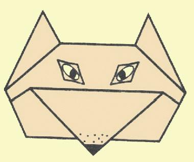 Оригами - Лисичка