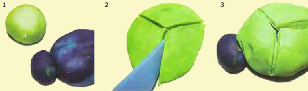 Поделки из пластилина: Зеленый жук
