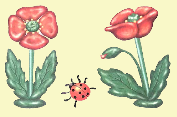 Пластилиновые поделки: Красные маки