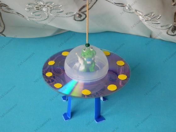 Поделка - Летающая тарелка
