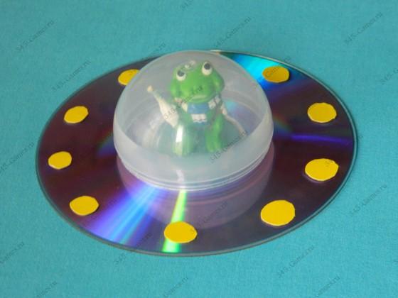 Крепим шар к диску