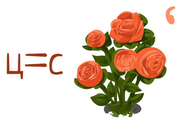 шифровка слова свет через цветы