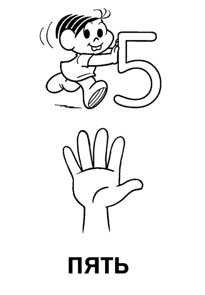 Раскраска - Цифра 5