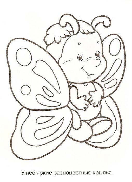 Раскраска - Бабочка