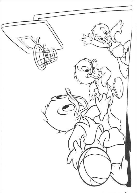 Раскраски мультфильма Утиные истории