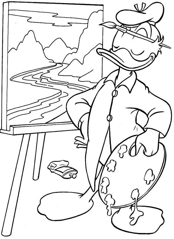 Раскраски для детей Утиные истории