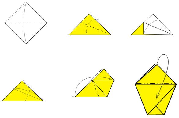 Оригами. Как сделать стаканчик из бумаги