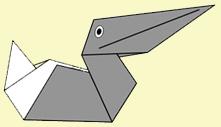 Оригами - Забавный пеликан