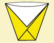 Стаканчик для воды. Оригами