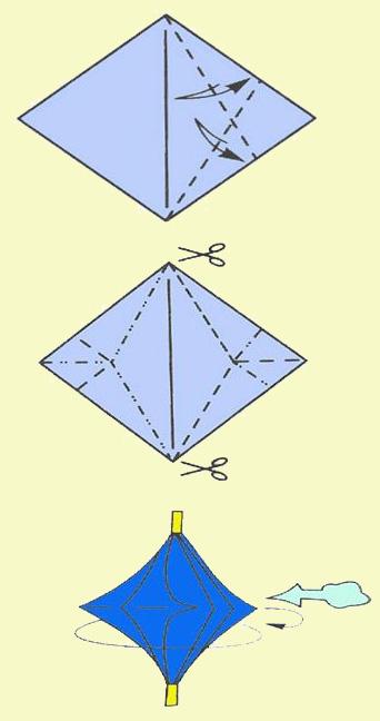 Как сделать игрушку вертушку.