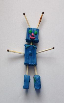 Лепка робота из пластилина