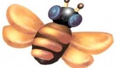 Поделка из пластилина - Пчелка