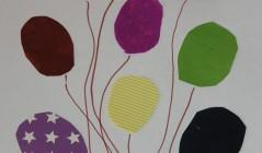 Детская аппликация «Воздушные шарики»