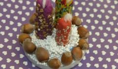 Новогодние свечи из пластилина