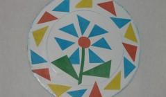 Разноцветная тарелочка