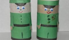 Поделка: Солдатики из картона и цветной бумаги