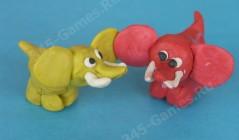 Слоники из пластилина