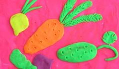 Как слепить овощи из пластилина
