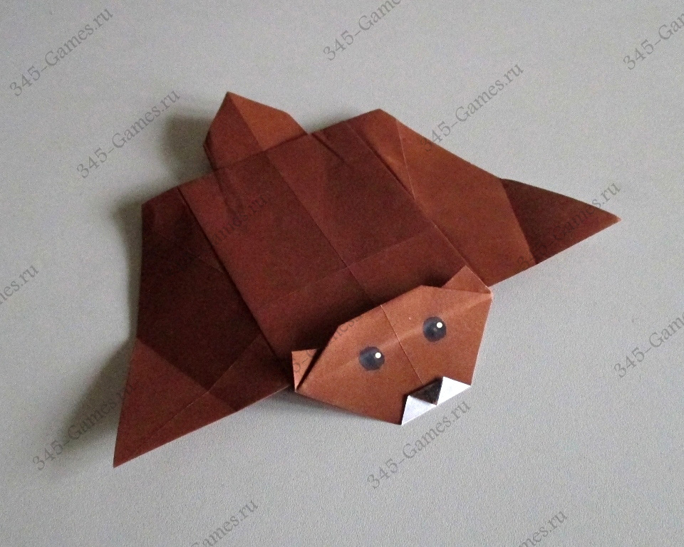 Оригами из бумаги - Белка Летяга