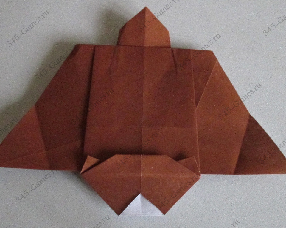 Оригами из бумаги: белка-летяга