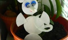 Как сделать мышонка из ватных дисков