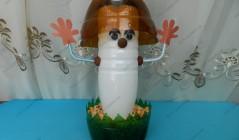 Поделка из пластиковых бутылок - Гриб