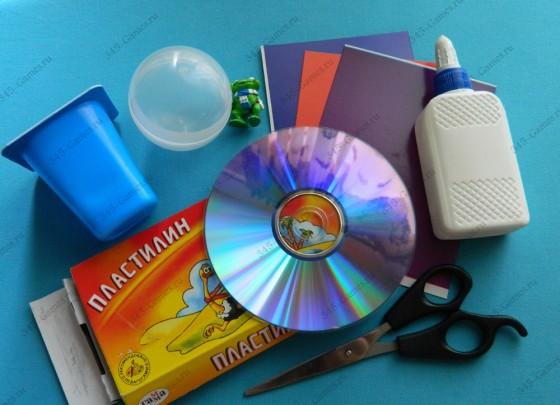 Материалы для поделки - Летающая тарелка