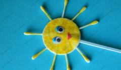 Солнце из ватных дисков