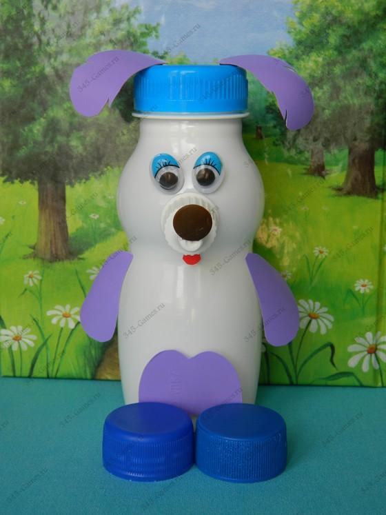 Поделка Собака из пластиковой бутылки