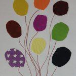 Аппликация «Воздушные шарики»