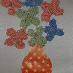 Цветы из шарикового пластилина