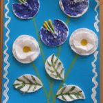 Цветы из ватных дисков и ватных палочек для мамы
