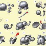 Лепим слоненка с нашим ребенком из пластилина