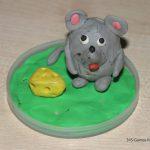 Мышонок из маленькой картофелины и пластилина