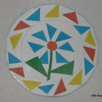 Аппликация «Разноцветная тарелочка»