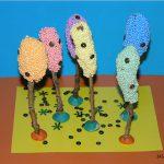 Сказочные деревья из шарикового пластилина и пайеток